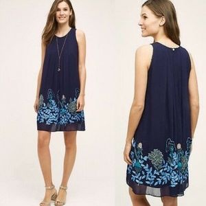 New $228 Anthropologie Not So Serious Navy Blue